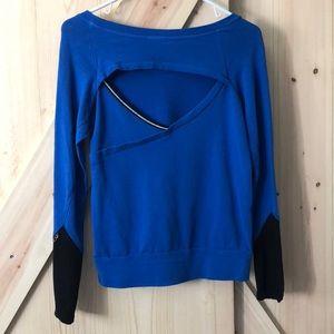 Splits59 blue/black cutout top